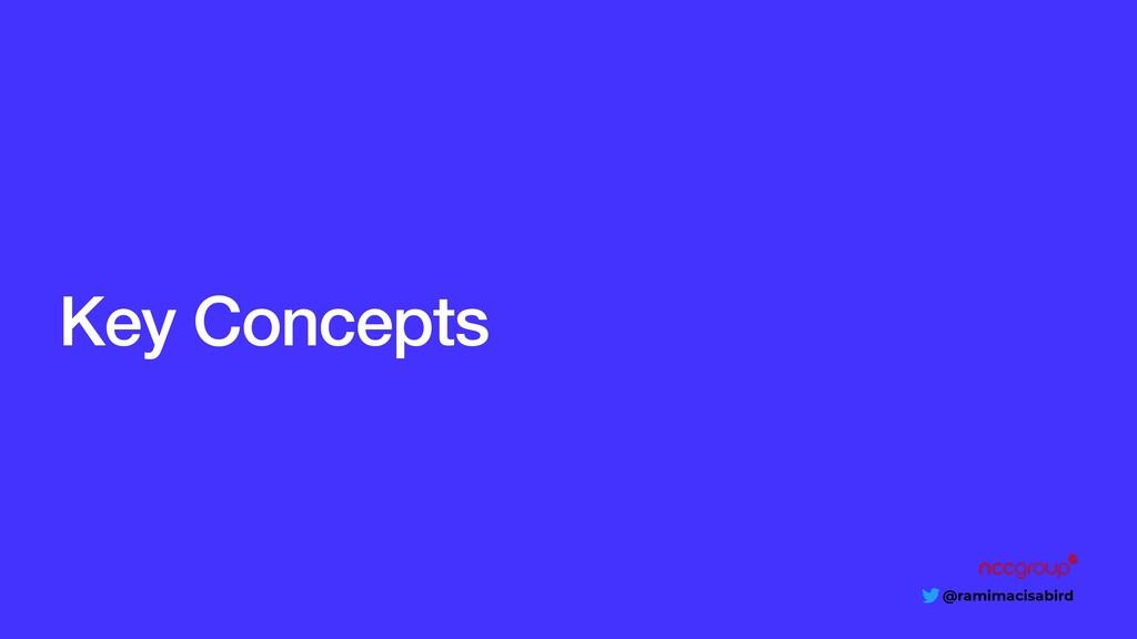 @ramimacisabird Key Concepts