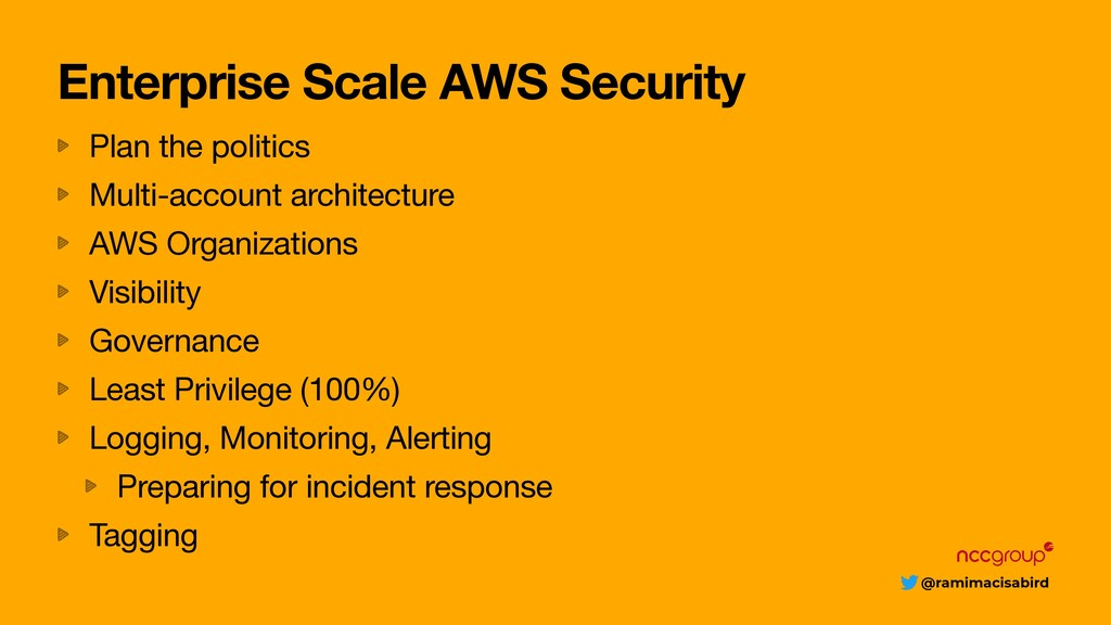 @ramimacisabird Enterprise Scale AWS Security P...