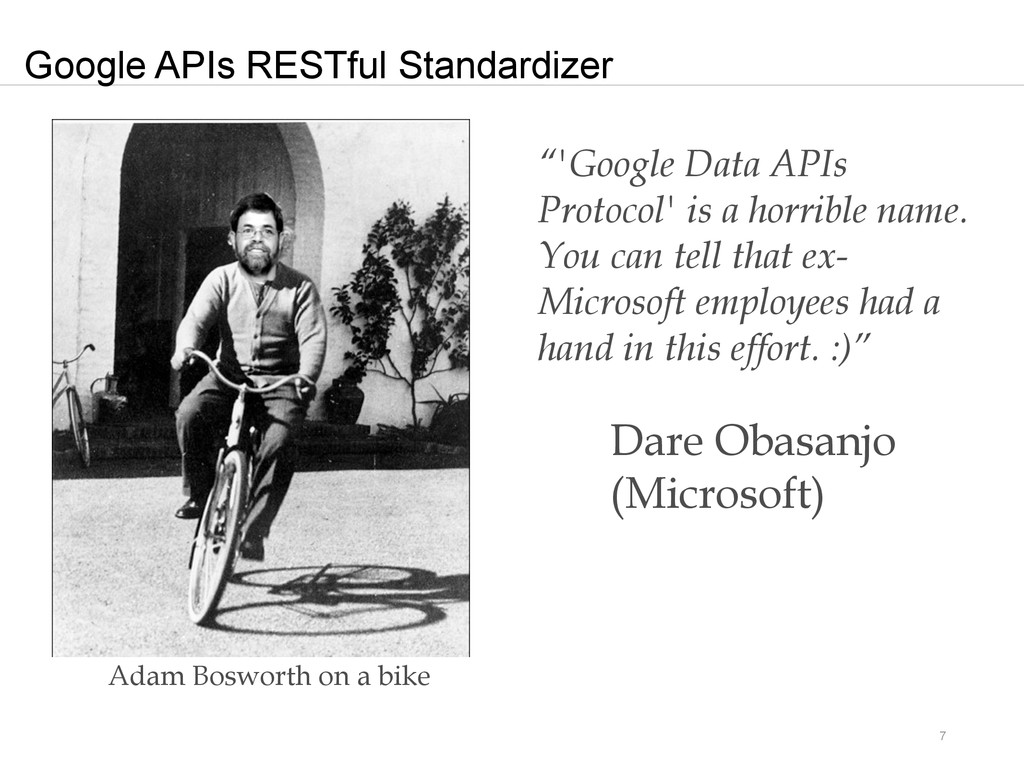 "7 Google APIs RESTful Standardizer ""'Google Dat..."