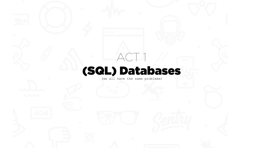 (SQL) Databases (we all have the same problems)...