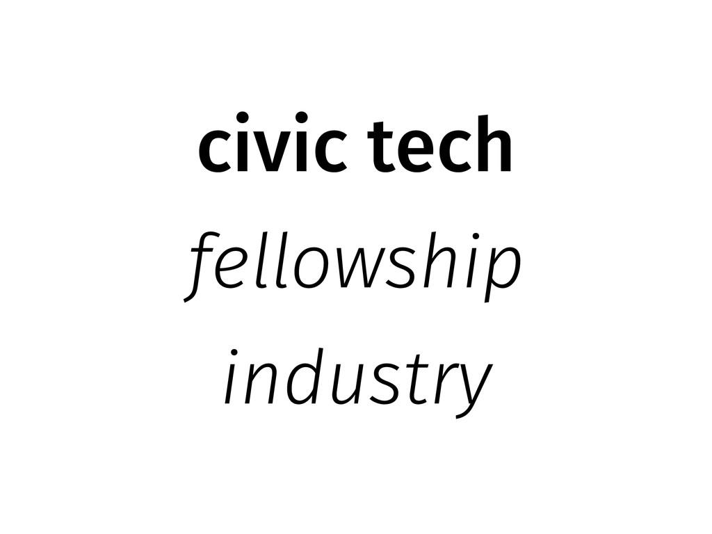 civic tech fellowship industry