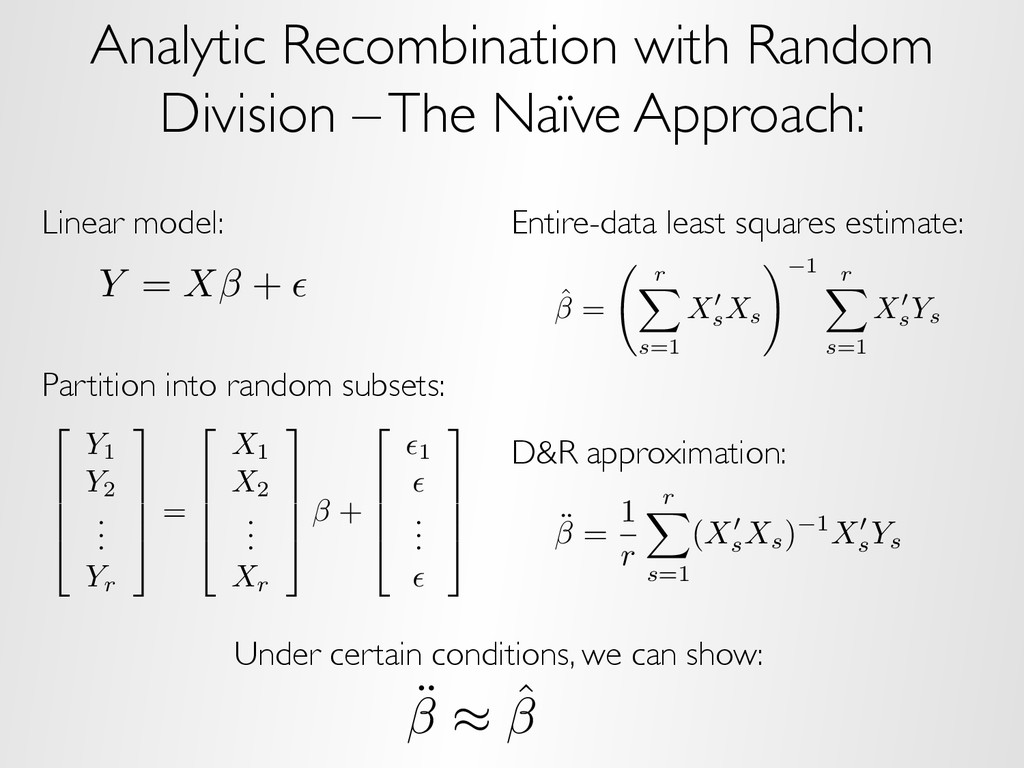 Analytic Recombination with Random Division – T...