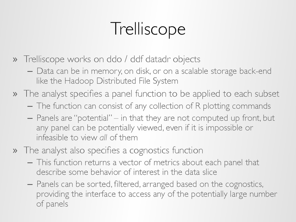 Trelliscope »  Trelliscope works on ddo / ddf d...