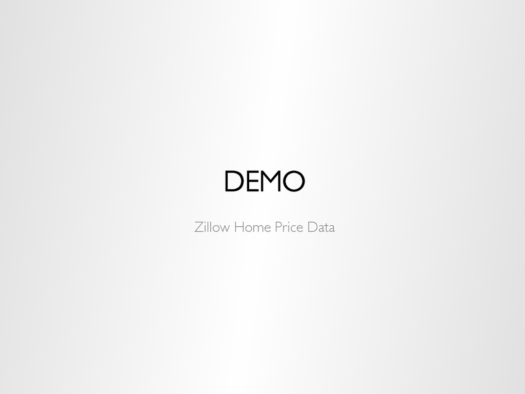 DEMO Zillow Home Price Data