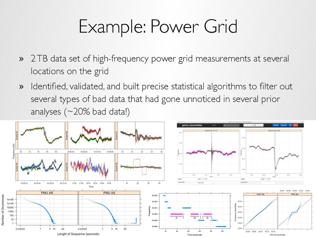 Example: Power Grid » 2 TB data set of high-fr...