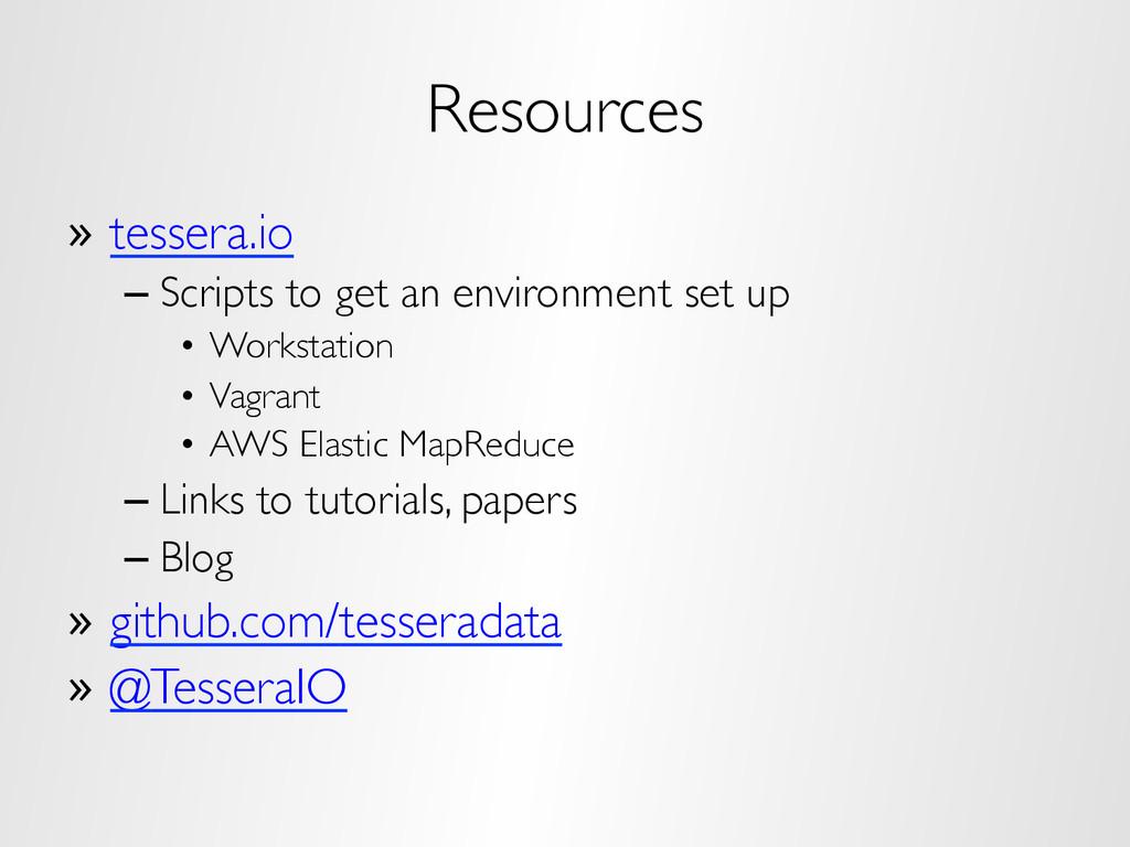 Resources » tessera.io –Scripts to get an env...