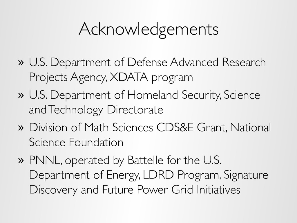 Acknowledgements »  U.S. Department of Defense ...