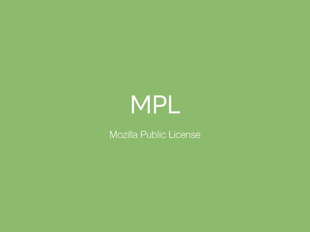 .1- Mozilla Public License