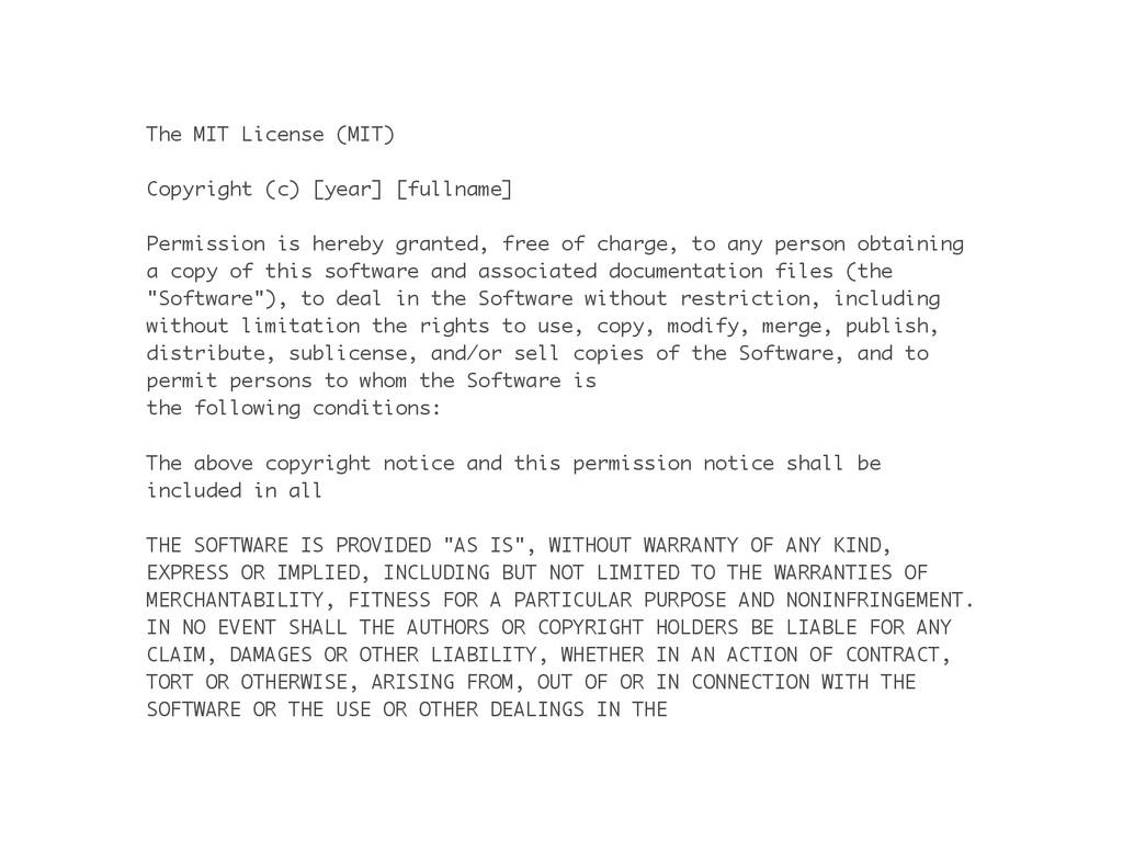 The MIT License (MIT) ! Copyright (c) [year] [f...
