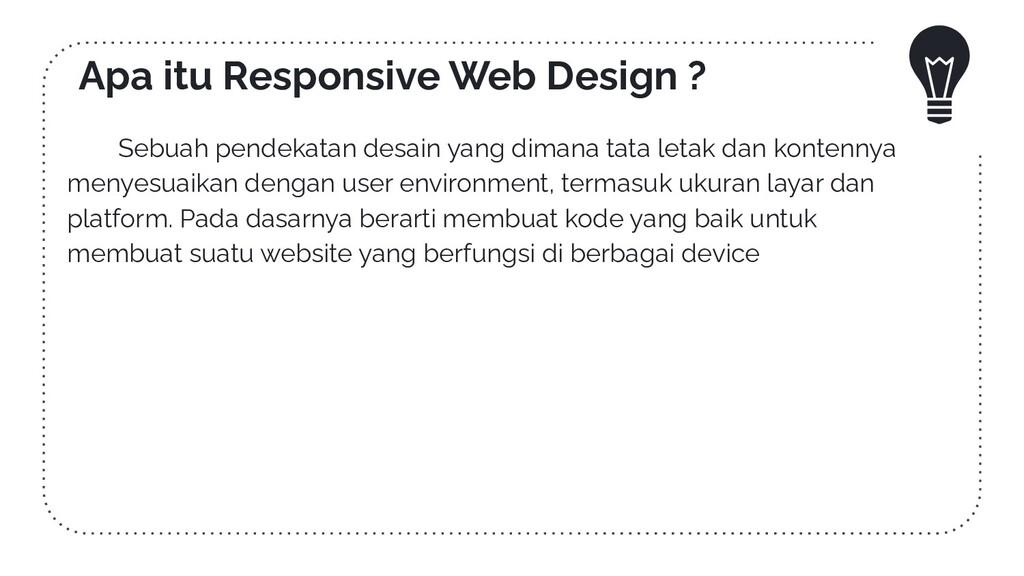 Apa itu Responsive Web Design ? Sebuah pendekat...
