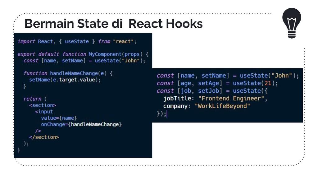 Bermain State di React Hooks