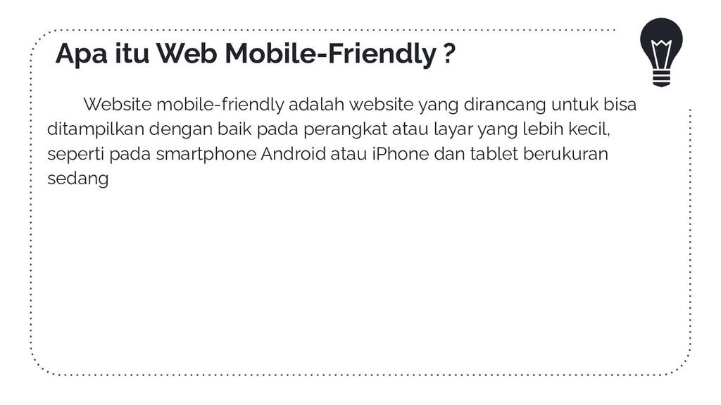 Apa itu Web Mobile-Friendly ? Website mobile-fr...