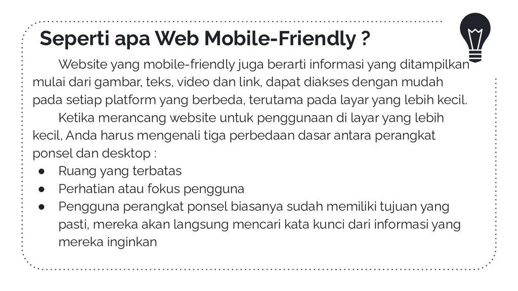 Seperti apa Web Mobile-Friendly ? Website yang ...
