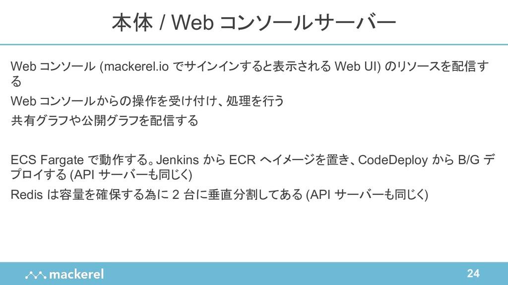 24 Web コンソール (mackerel.io でサインインすると表示される Web UI...