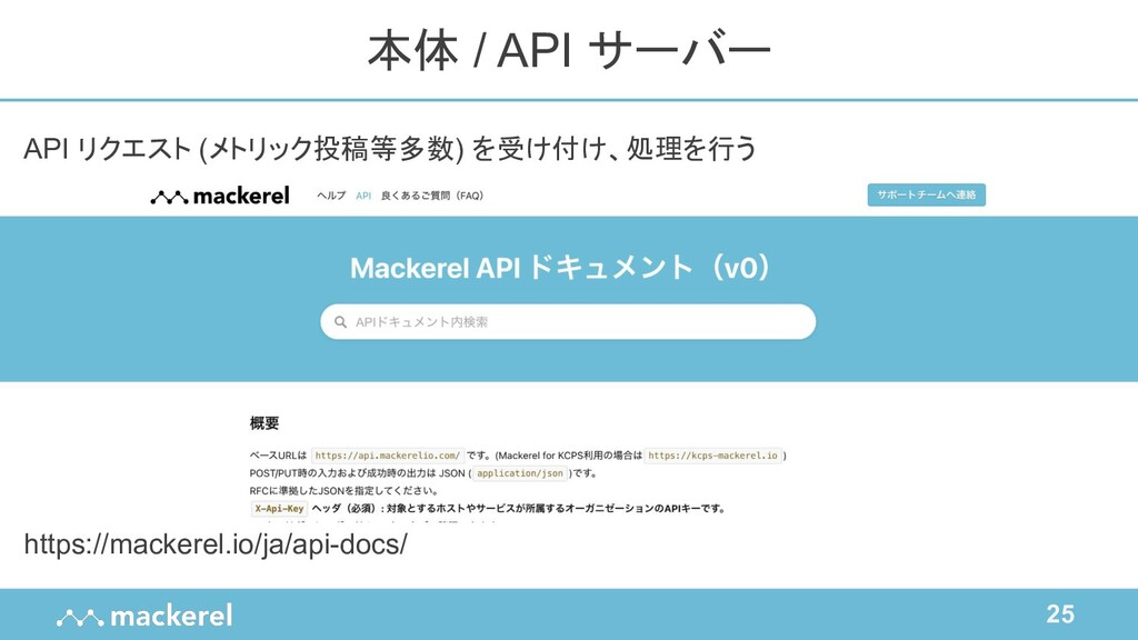 25 API リクエスト (メトリック投稿等多数) を受け付け、処理を行う https://m...