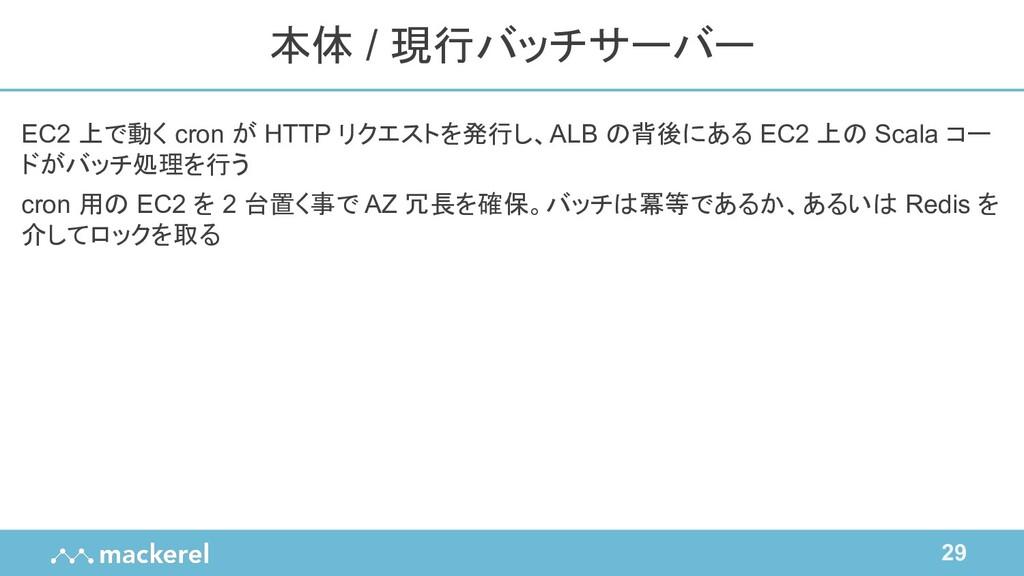 29 EC2 上で動く cron が HTTP リクエストを発行し、ALB の背後にある EC...