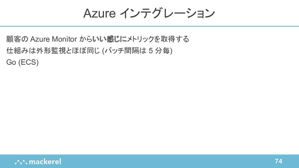 74 顧客の Azure Monitor からいい感じにメトリックを取得する 仕組みは外形監視...