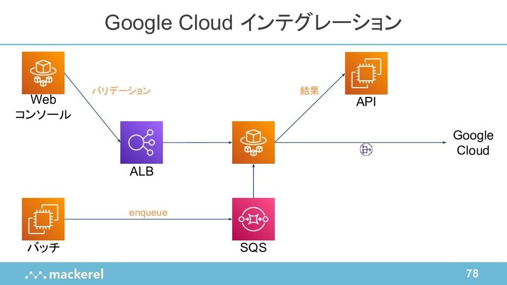 78 Google Cloud インテグレーション バッチ ALB Web コンソール API...