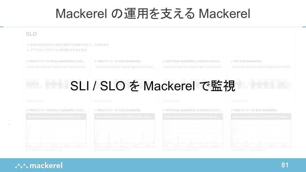 81 Mackerel の運用を支える Mackerel SLI / SLO を Macker...