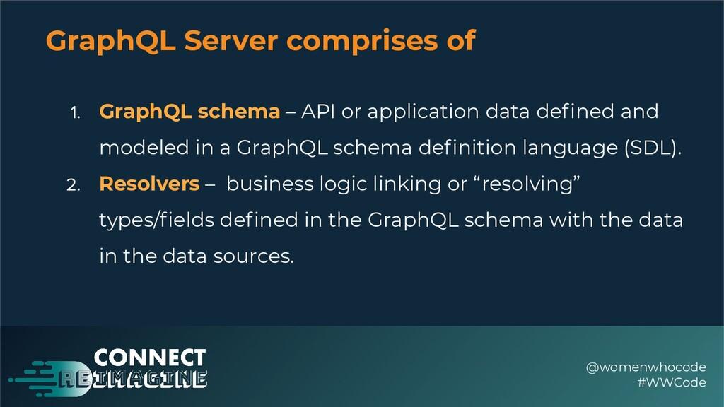 GraphQL Server comprises of @womenwhocode #WWCo...