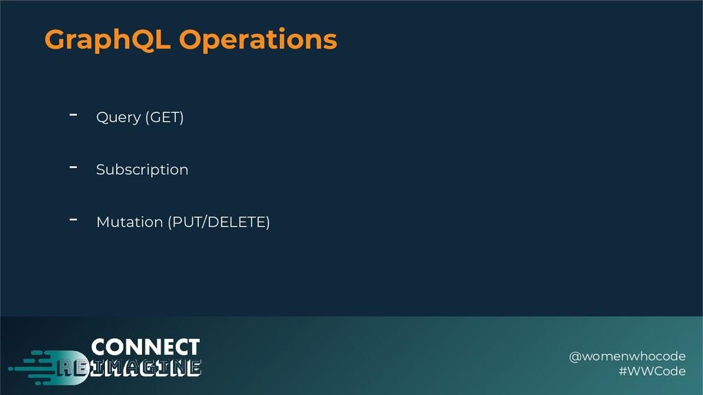 GraphQL Operations @womenwhocode #WWCode - Quer...