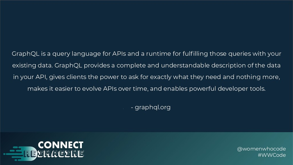 GraphQL is a query language for APIs and a runt...