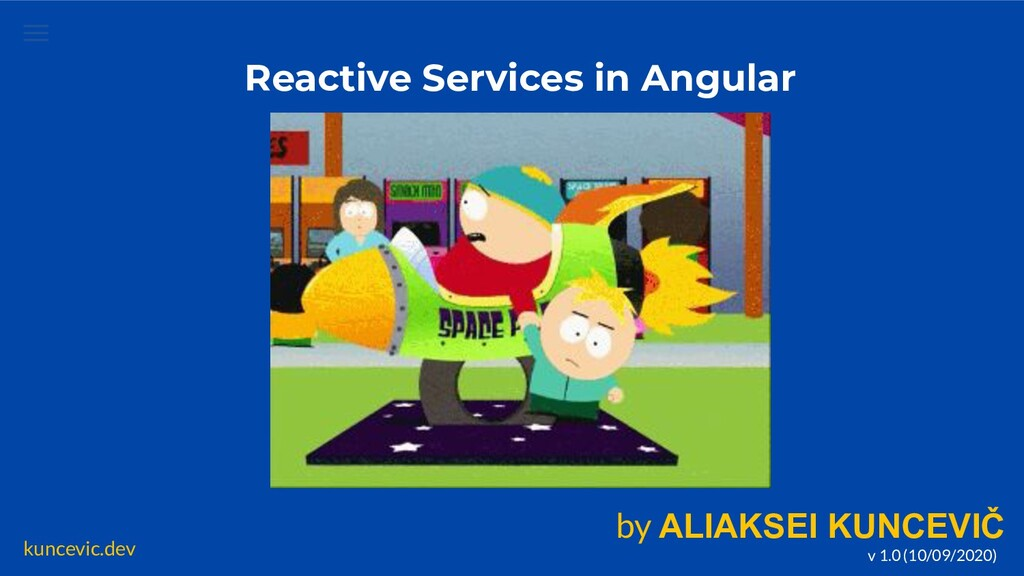 kuncevic.dev Reactive Services in Angular by AL...