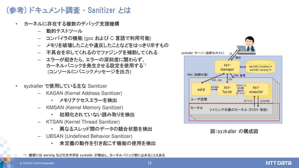 © 2019 NTT DATA Corporation 12 (参考) ドキュメント調査 - ...