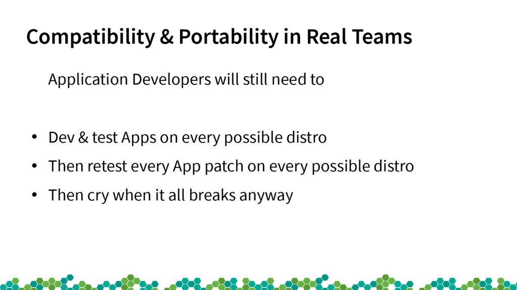 Compatibility & Portability in Real Teams Appli...
