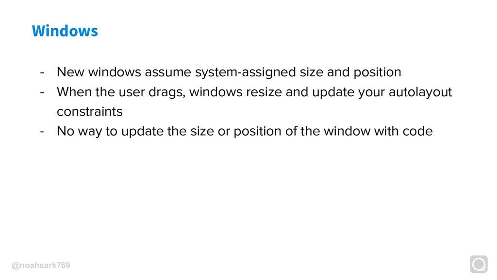 @noahsark769 Windows - New windows assume syste...