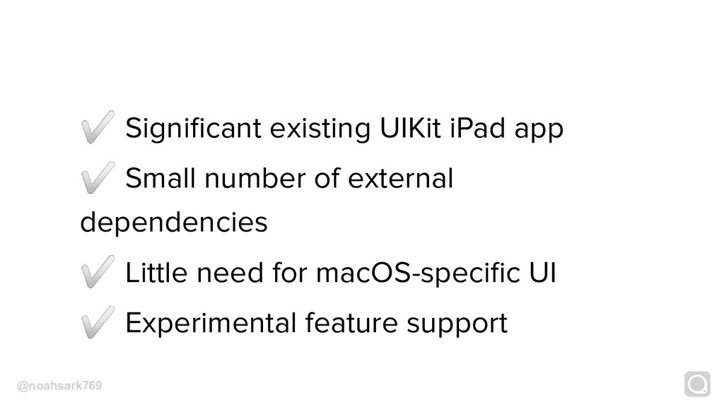 ✅ Significant existing UIKit iPad app ✅ Small nu...