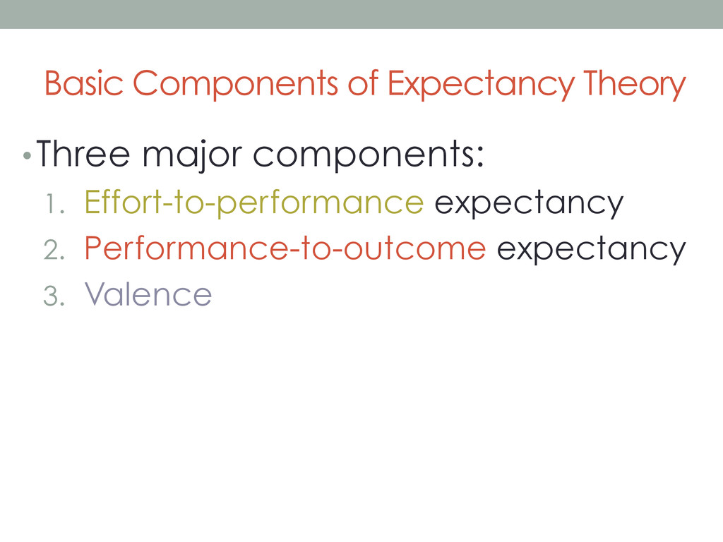 Basic Components of Expectancy Theory • Three m...