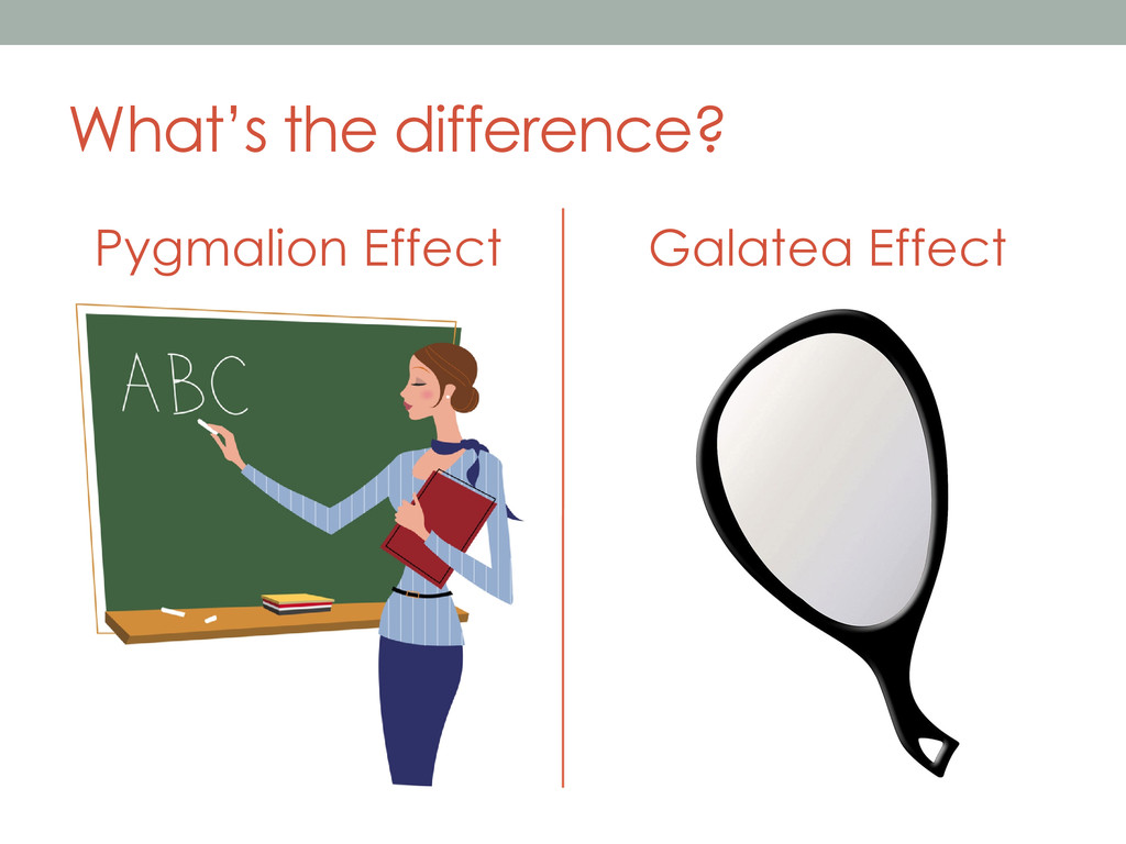 What's the difference? Pygmalion Effect Galatea...