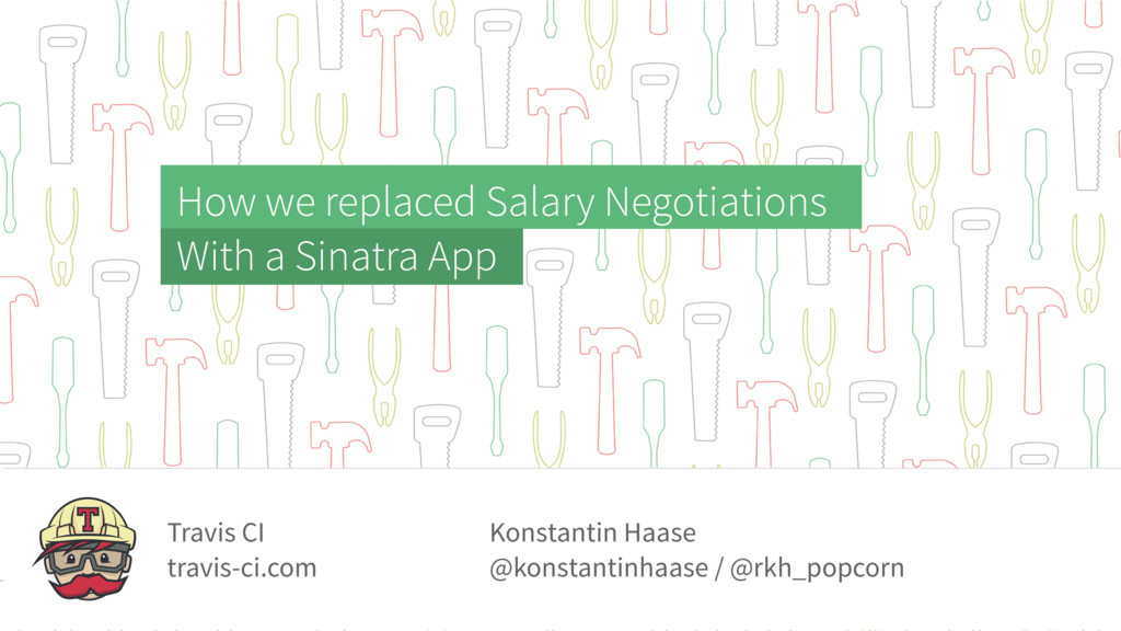 How we replaced Salary Negotiations With a Sina...