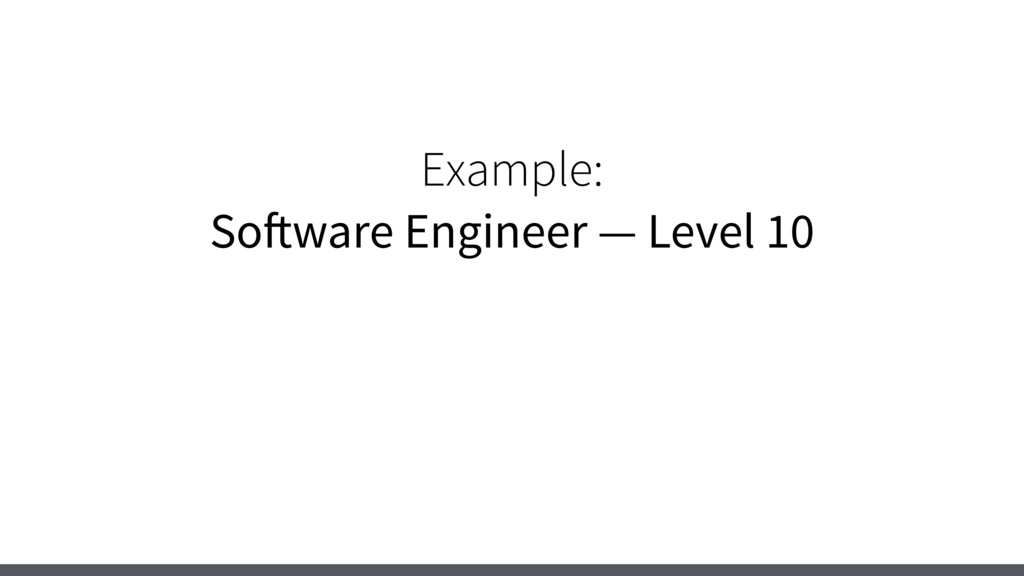 Example: Software Engineer — Level 10