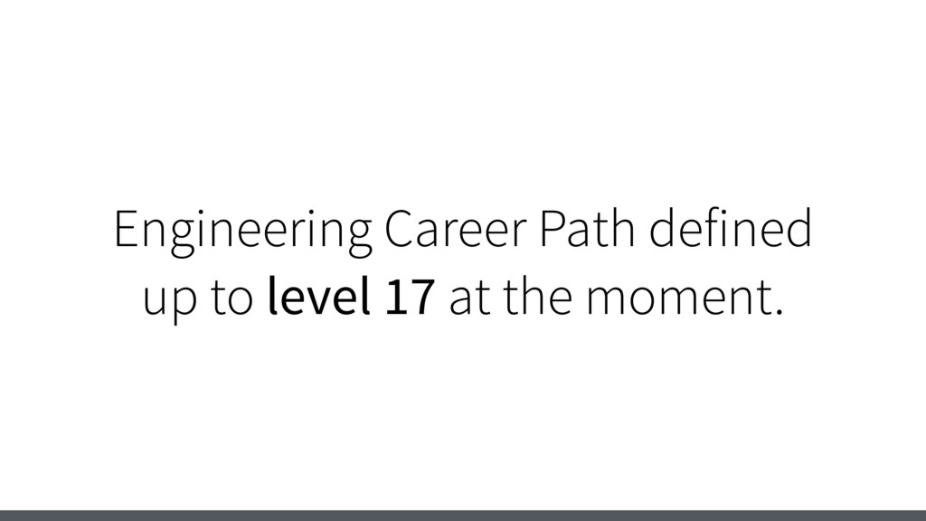 Engineering Career Path defined up to level 17 ...