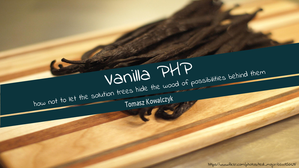 Vanilla PHP how not to let the solution trees h...