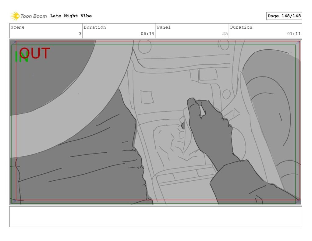 Scene 3 Duration 06:19 Panel 25 Duration 01:11 ...