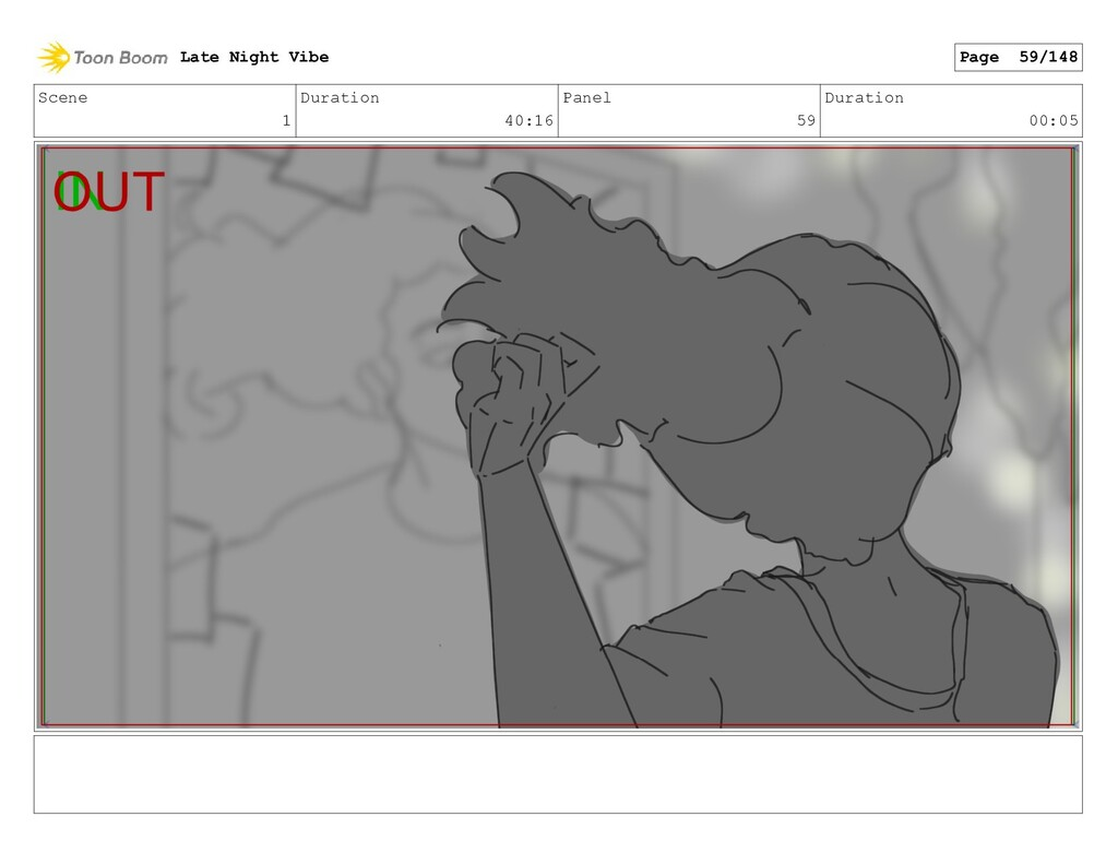 Scene 1 Duration 40:16 Panel 59 Duration 00:05 ...