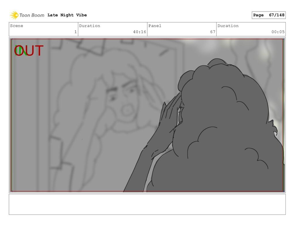 Scene 1 Duration 40:16 Panel 67 Duration 00:05 ...