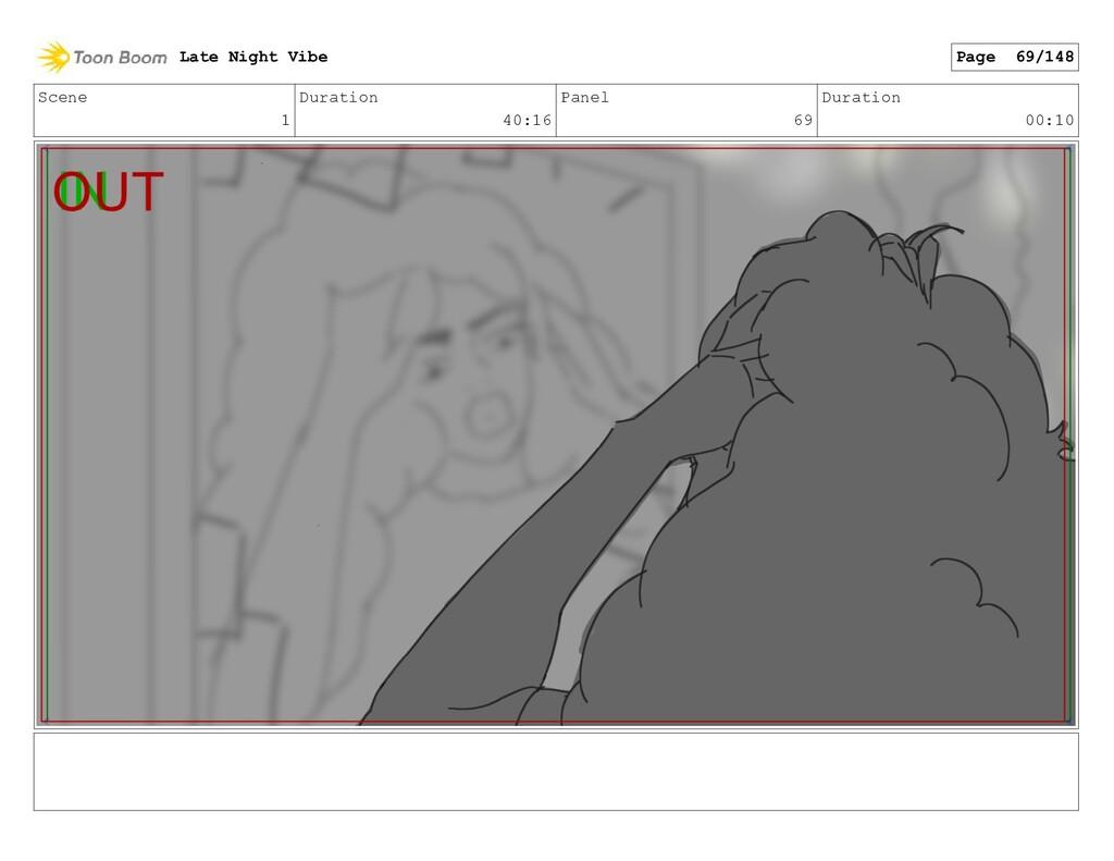 Scene 1 Duration 40:16 Panel 69 Duration 00:10 ...