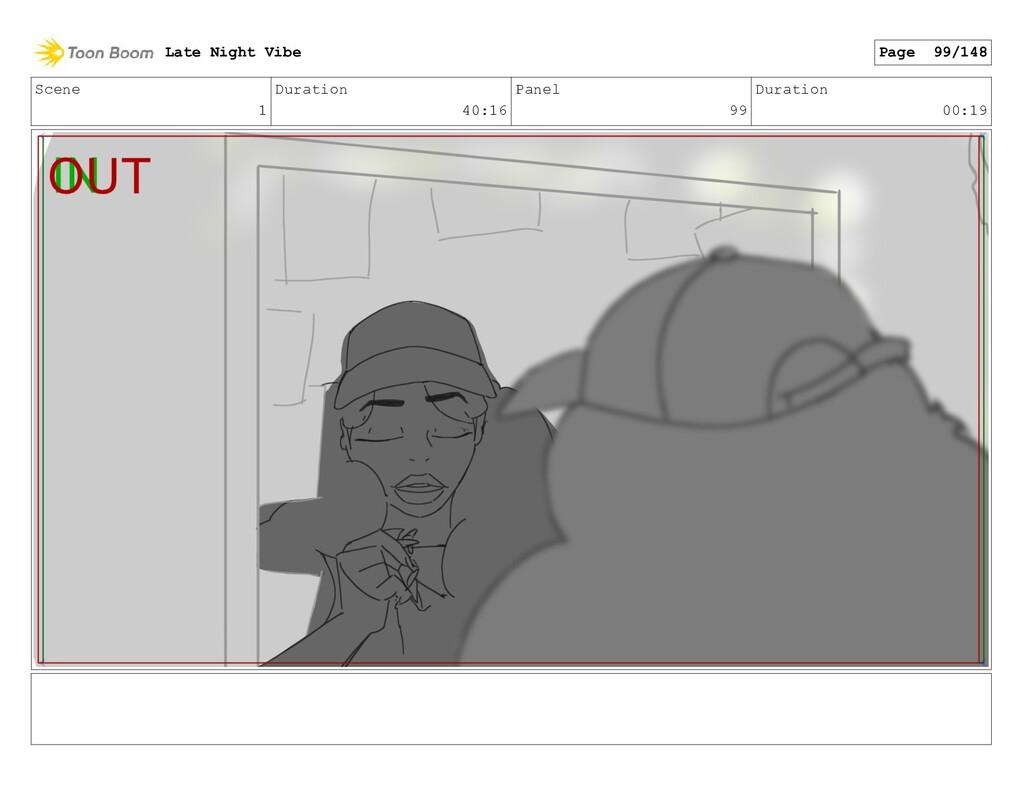 Scene 1 Duration 40:16 Panel 99 Duration 00:19 ...