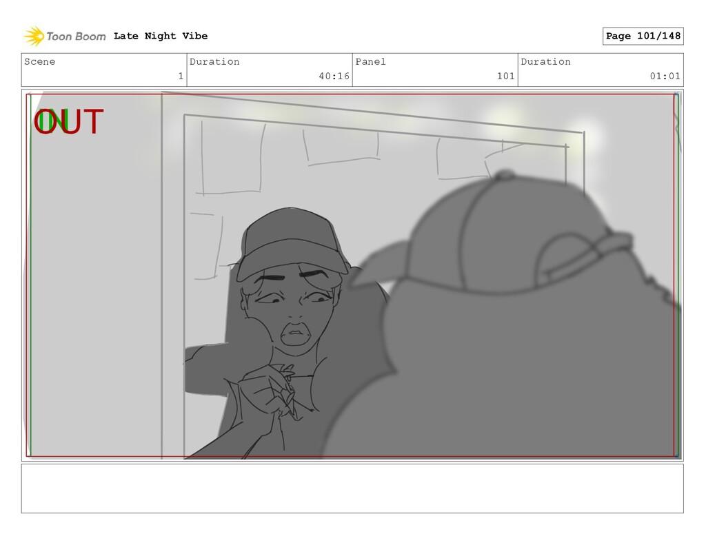 Scene 1 Duration 40:16 Panel 101 Duration 01:01...