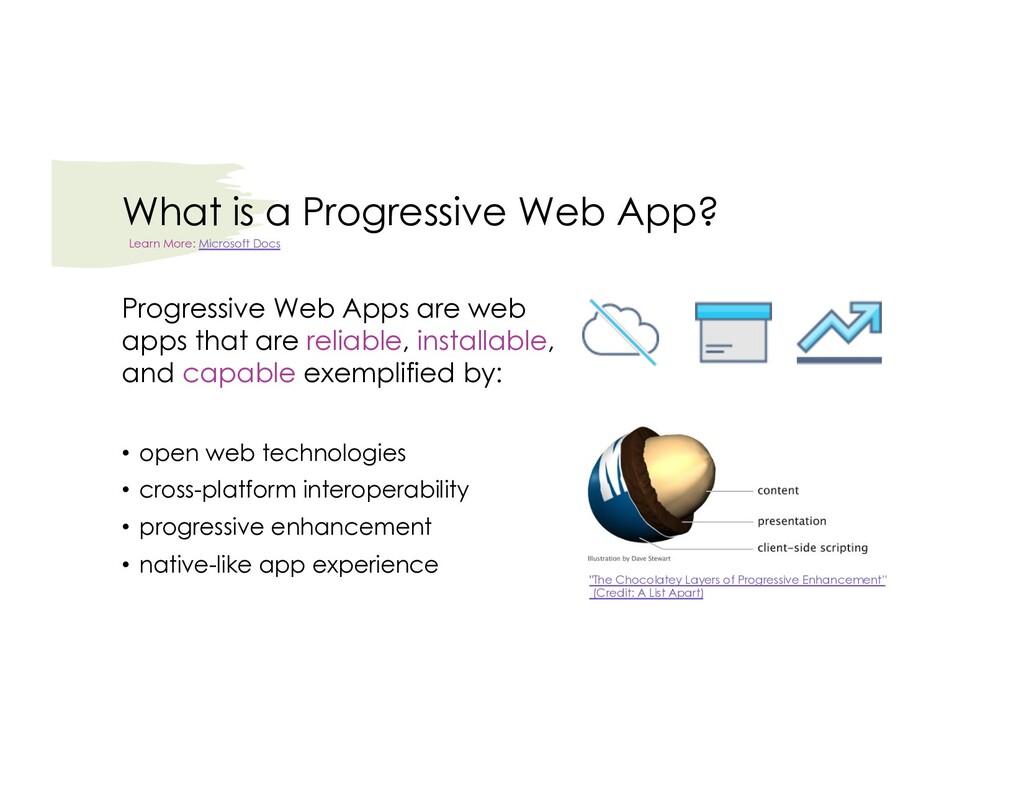 What is a Progressive Web App? Progressive Web ...