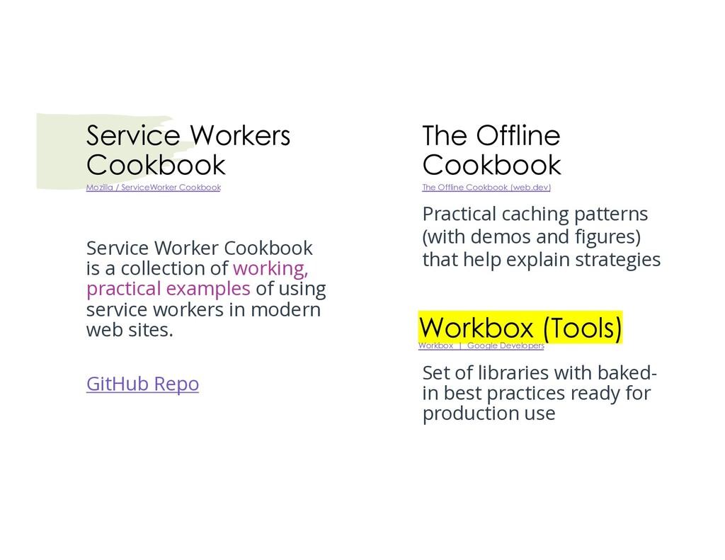 Service Workers Cookbook Service Worker Cookboo...