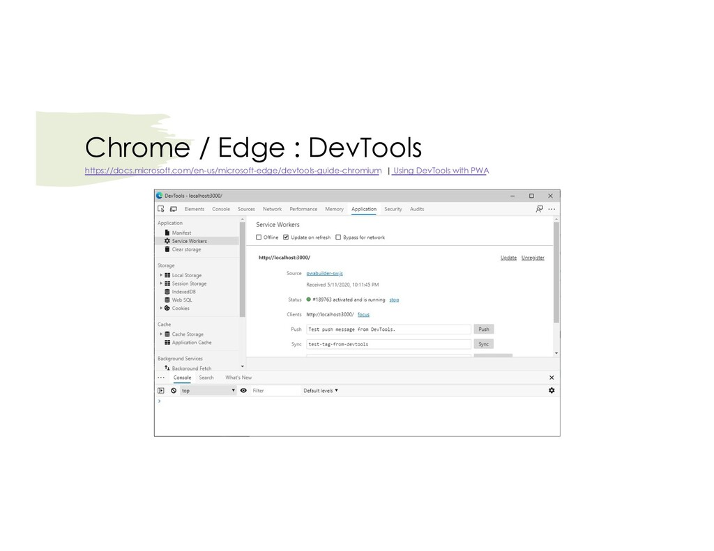 Chrome / Edge : DevTools https://docs.microsoft...