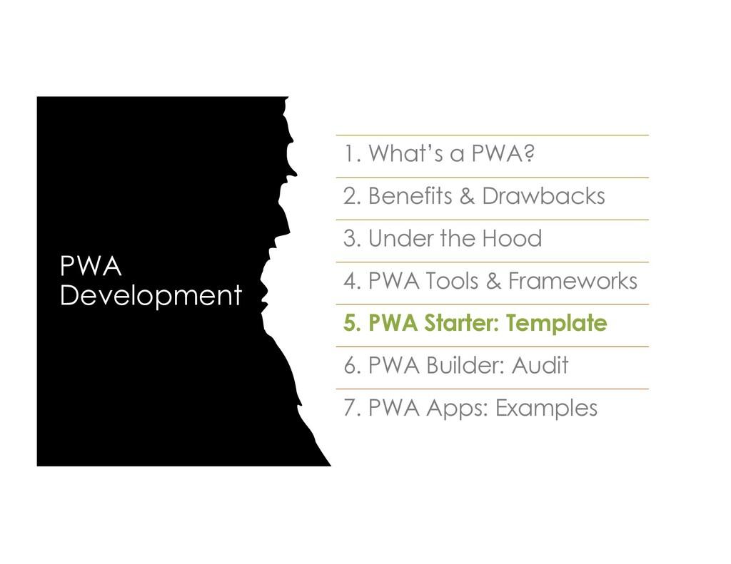 PWA Development 1. What's a PWA? 2. Benefits & ...