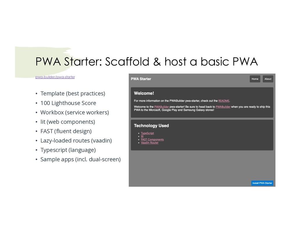 pwa-builder/pwa-starter • Template (best practi...