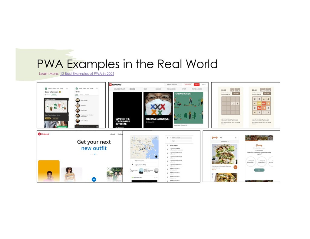 PWA Examples in the Real World Learn More: 12 B...