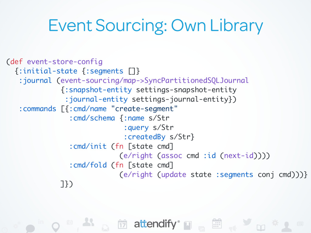 Event Sourcing: Own Library (def event-store-co...